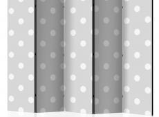 Paraván - Cheerful polka dots II [Room Dividers]